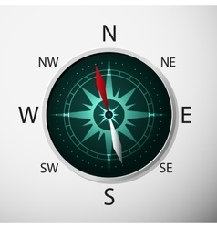 Compass with windrose vector image