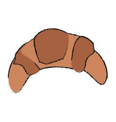 Croissant bread icon vector