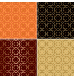 dark and light seamless patterns - set vector image vector image