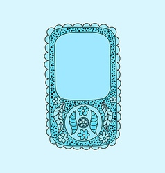 Floral smartphone with vintage flowers and doodles vector