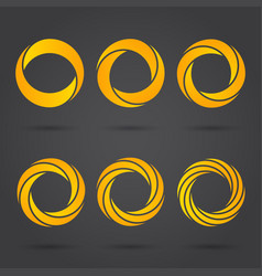Golden zeros segmented logo signs vector