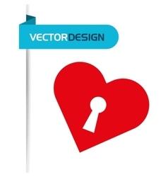 Heart love design vector
