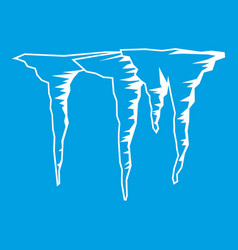 icicles icon white vector image
