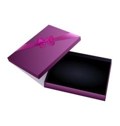 Jewelry gift box vector