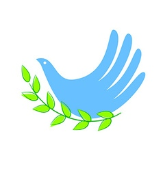 peace dove vector image