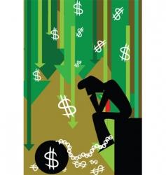 recession vector image vector image