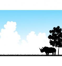 rhino clouds vector image