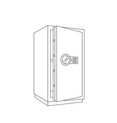 safe sketch vector image