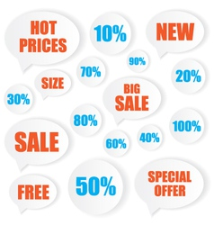 Sale label stickers vector image vector image