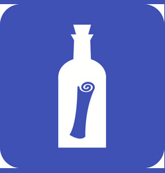 scroll in bottle vector image vector image