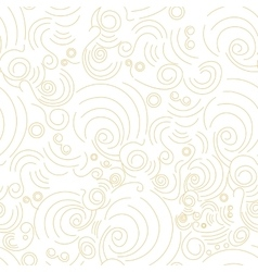 seamless Golden linear shapes pattern vector image vector image
