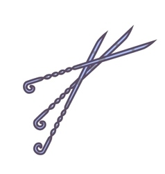 Skewers set icon vector