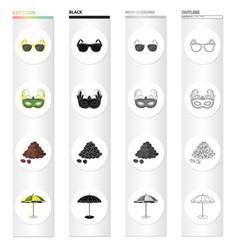 Sunglasses carnival mask famous brazilian coffee vector