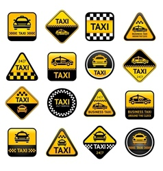 Taxi set buttons vector image vector image
