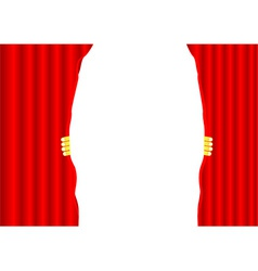 Theater curtain background vector image vector image