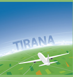Tirana flight destination vector
