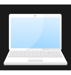 white laptop vector image