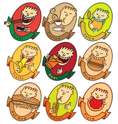 funny faces vector image