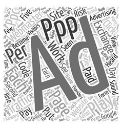 Will pay per play ppp work text background vector