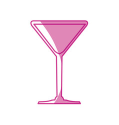 Cocktail glass cup vector