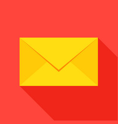 Mail envelope flat icon vector