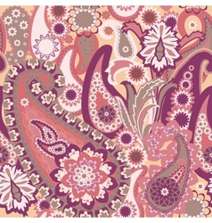 Seamless pattern with paisley background vector