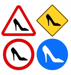Female shoe signs vector