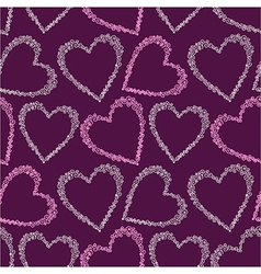 Romantic seamless pattern with hearts vector