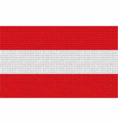 Knitted austria flag vector