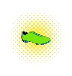Football boot icon comics style vector