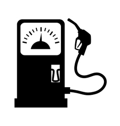Gas station dispenser icon vector