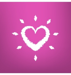 Abstract heart draw isolated on pink background vector