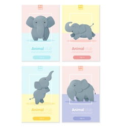 Animal banner with elephant for web design 1 vector