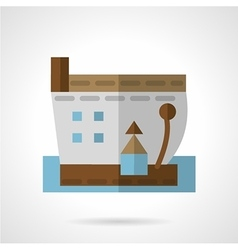Barge icon flat style vector image
