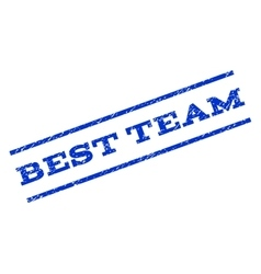 Best Team Watermark Stamp vector image