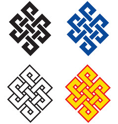 Buddhist endless knot vector