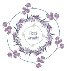 colorful floral wreaths flower design vector image vector image