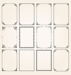 Decorative frames and borders rectangle set 5 vector