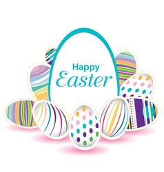 Easter day for egg on design colorful egg isolated vector