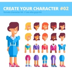 Female character creation set see also guys kit vector