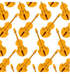 Fiddle classic instrument seamless pattern image vector