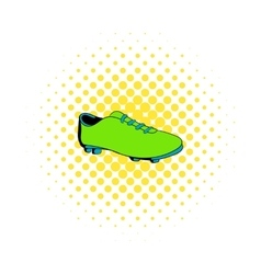 Football boot icon comics style vector image vector image