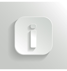 Info icon - white app button vector