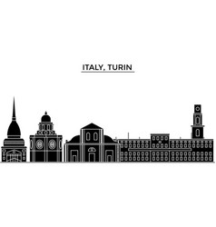 italy turin architecture city skyline vector image