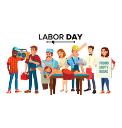 labor day group of people employee vector image