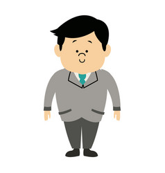 man male cartoon standing senior person character vector image vector image