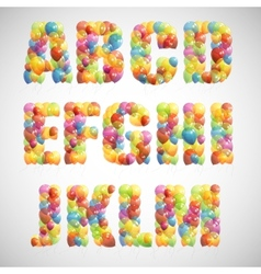 Multicolored balloon alphabet vector
