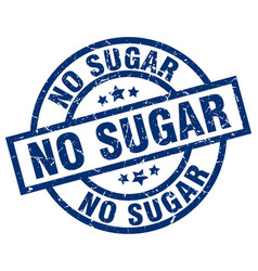 No sugar blue round grunge stamp vector