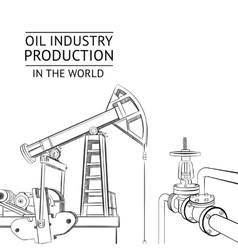 Oil industry objects vector