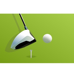 Putting golf vector image